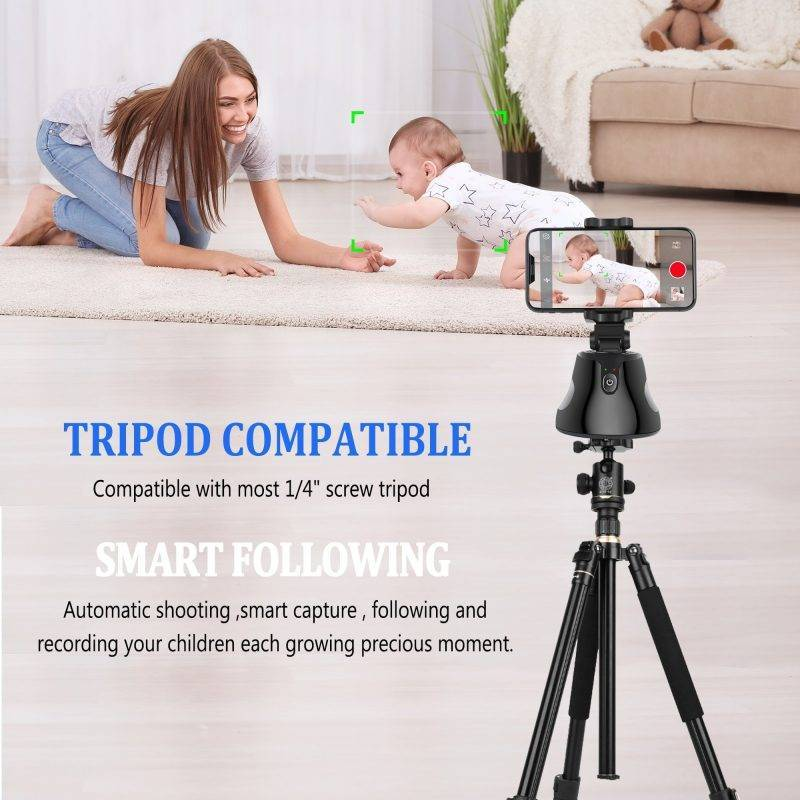 Face tracking 360 Rotation Selfie Stick Tripod Electronics Cell Phones & Accessories
