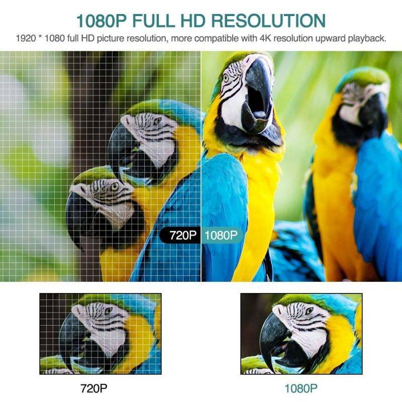 Full HD 1920x1080P Home Cinema Projector Home Audio & Theater Electronics