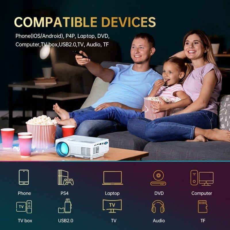VANKYO Leisure C3MQ Mini Portable 1920*1080P Projector Bluetooth & Wireless Speakers Home Audio & Theater Electronics