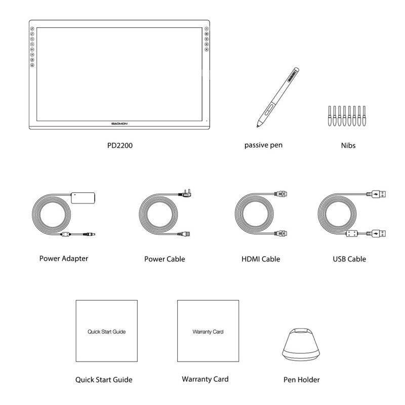 GAOMON PD2200 Graphic Drawing Tablet Bluetooth & Wireless Speakers Electronics Cell Phones & Accessories