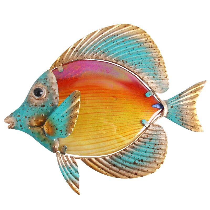 Metal Fish Wall Art for Home and Garden Decor Home Goods Home Decor