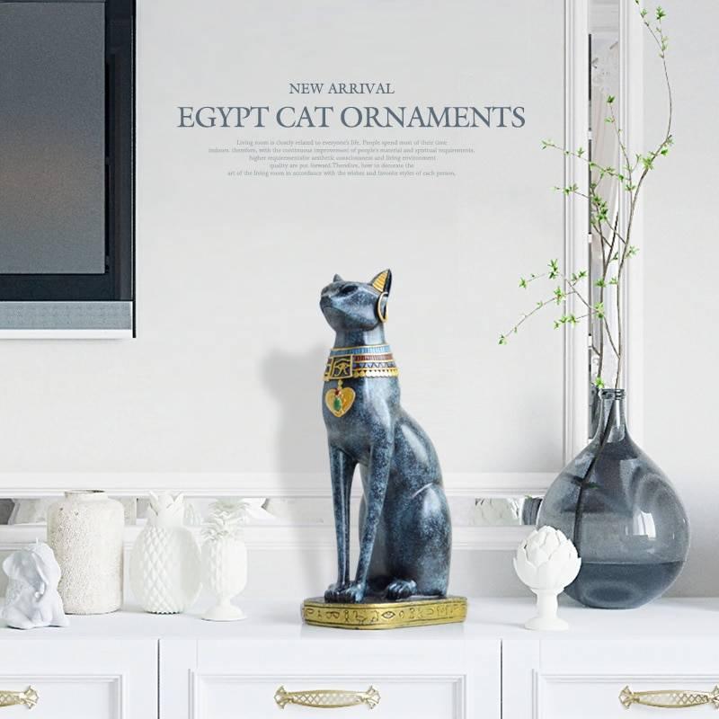 Egyptian Goddess Pharaoh Cat Vintage Home Decor Statue Home Goods Home Decor