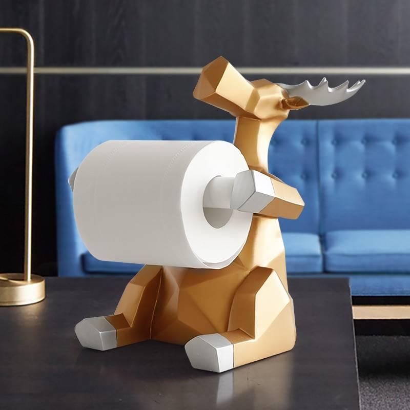 Elephant & Deer Statue Toilet Paper Holder Table, Living Room, Office ,Restaurant, Home Decor Home Goods Home Decor
