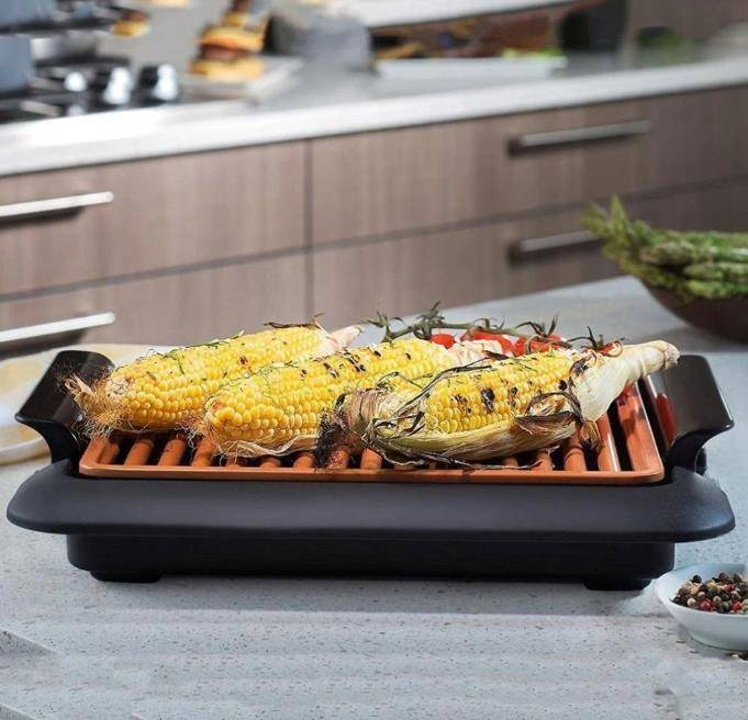 Smokeless Indoor Electric BBQ Grill Home Goods Kitchen & Dining