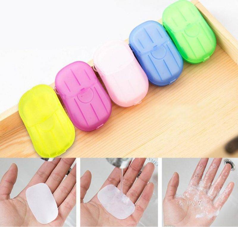 Portable Hand-Washing Soap Paper (5 Packs/100 Sheets) Sports & Outdoors Tools & Accessories Car Utilities Auto Health & Beauty Personal Care