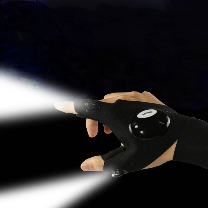 Waterproof LED Light Work Gloves Set (Left and Right) Car Utilities Auto Home Goods Tools