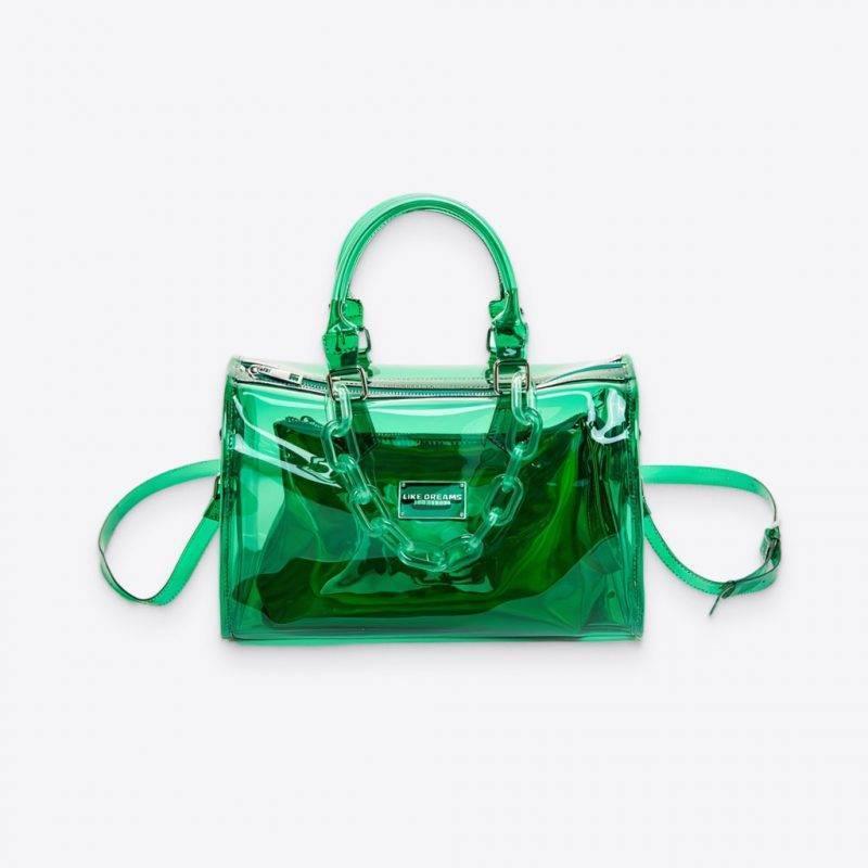 Sub-Zero Clear Chain Barrel Bag Luggage & Bags Fashion Bags