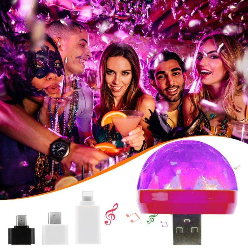 Mini USB Disco Light Car Electronics Auto