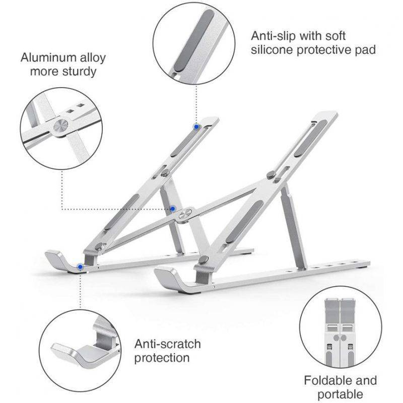 Adjustable Aluminum Laptop Stand Electronics Cell Phones & Accessories