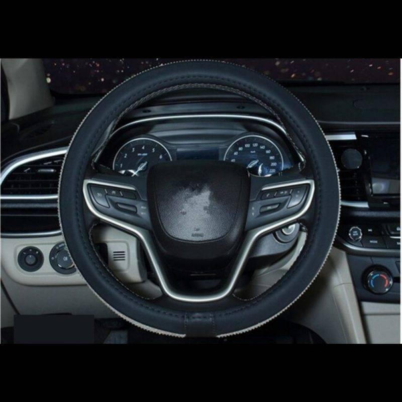 Rhinestone Steering Wheel Cover Car Utilities Driving Comfort Auto