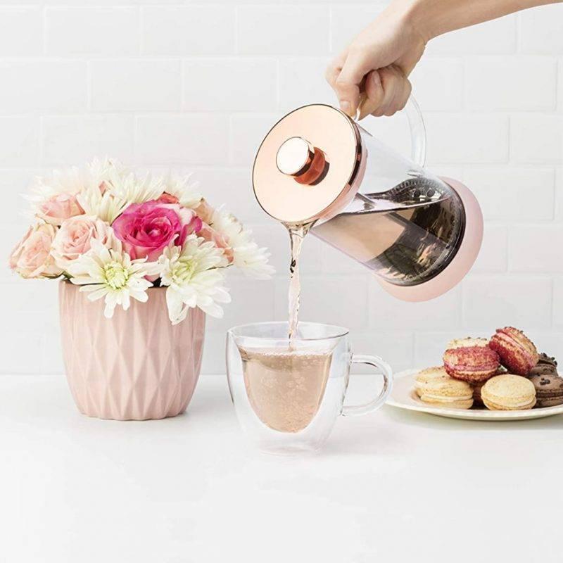 Riley™ Glass Tea Press Pot Home Goods Kitchen & Dining