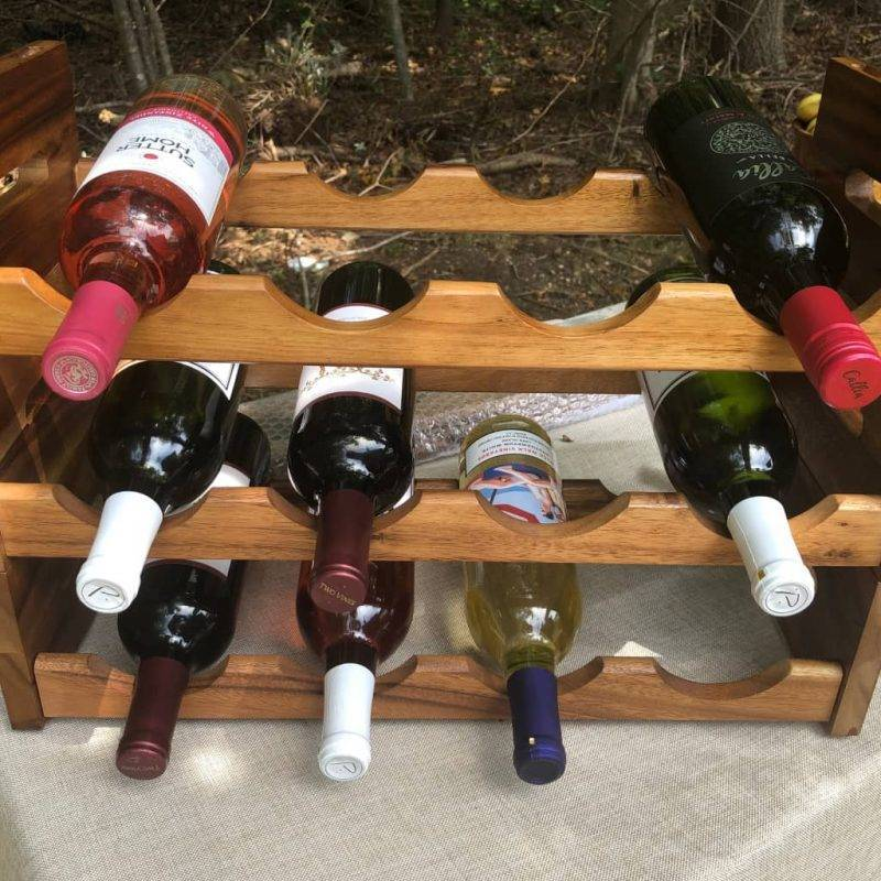 4 Bottle Stackable Wine Rack Home Goods Kitchen & Dining