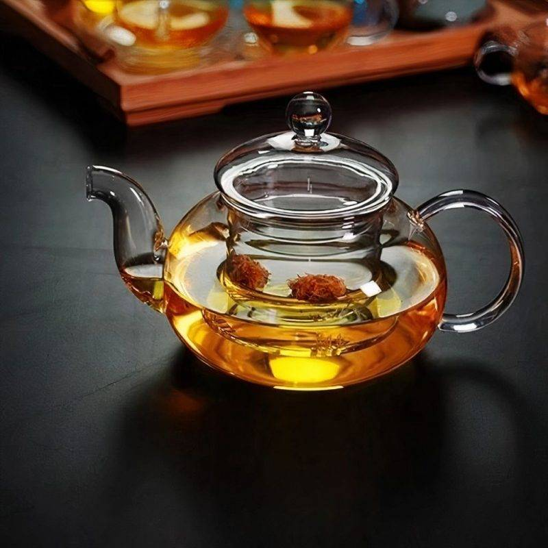 20 Fl oz Thermo Glass Tea Pot Home Goods Kitchen & Dining