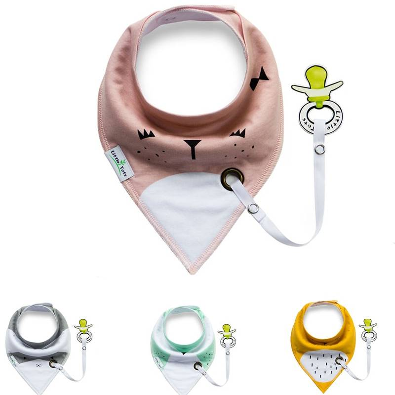 Cotton Baby Bibs with Pacifier Holder Baby & Kid's Accessories