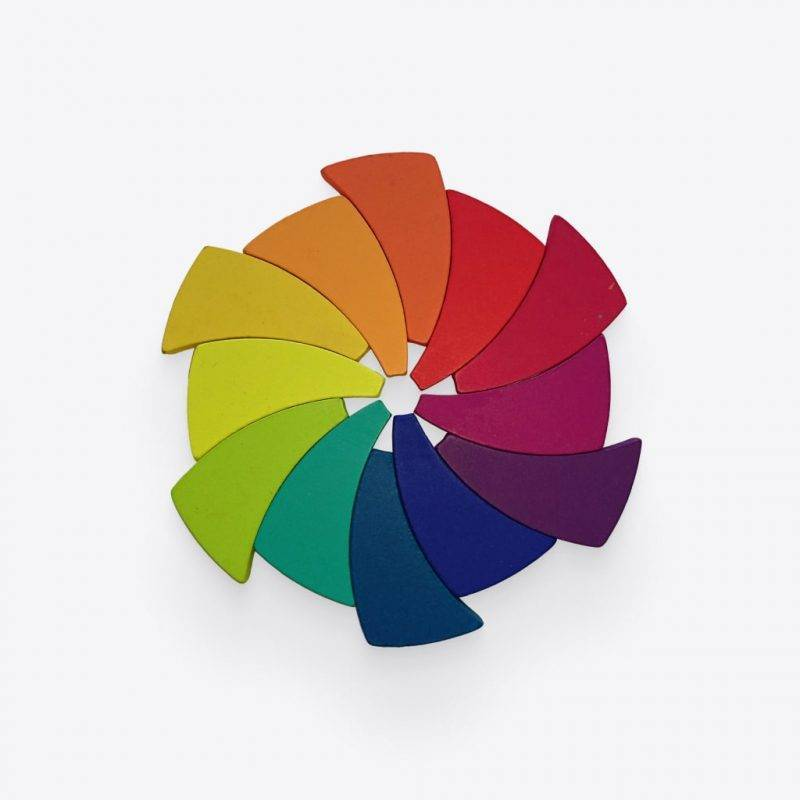 Wooden Color Wheel Baby & Kid's Accessories Learning & Education