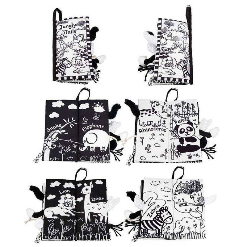 Black and White Soft Cloth Books for Babies Baby & Kid's Accessories Learning & Education