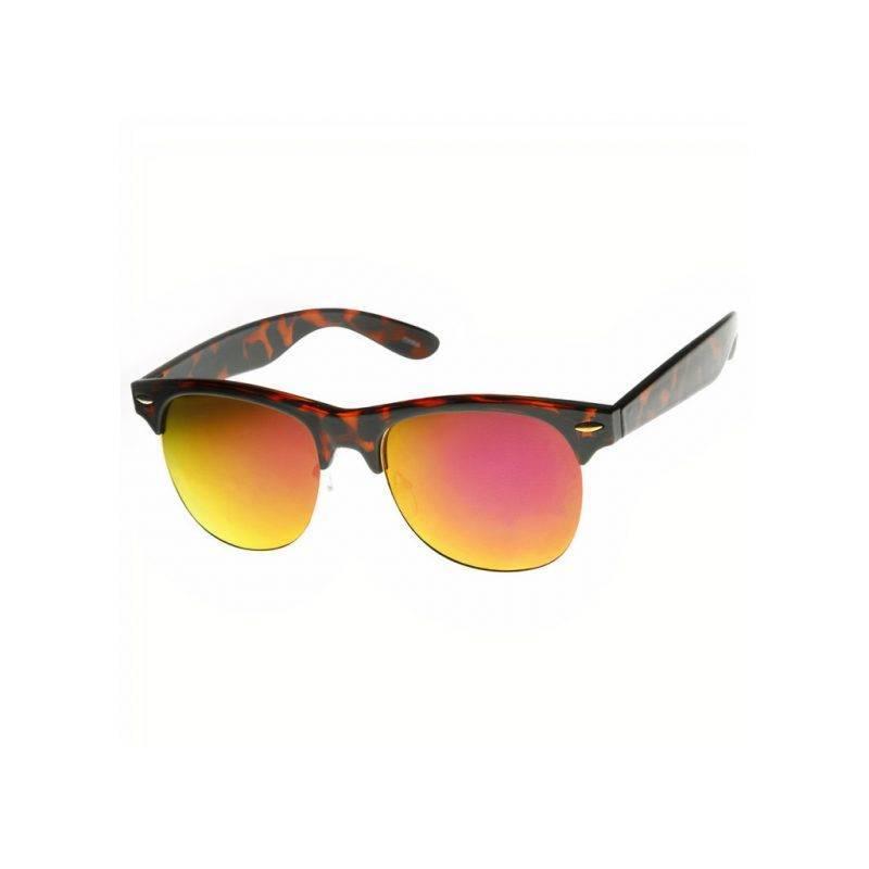 Flash Mirrored Horned Rim Half Frame Glasses Fashion Accessories Health & Beauty