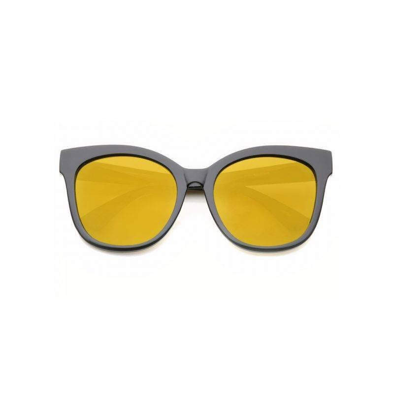 Mirrored Flat Cat Eye Glasses Fashion Accessories Health & Beauty