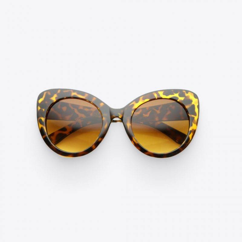 Oversize Round Cat Eye Glasses Fashion Accessories Health & Beauty