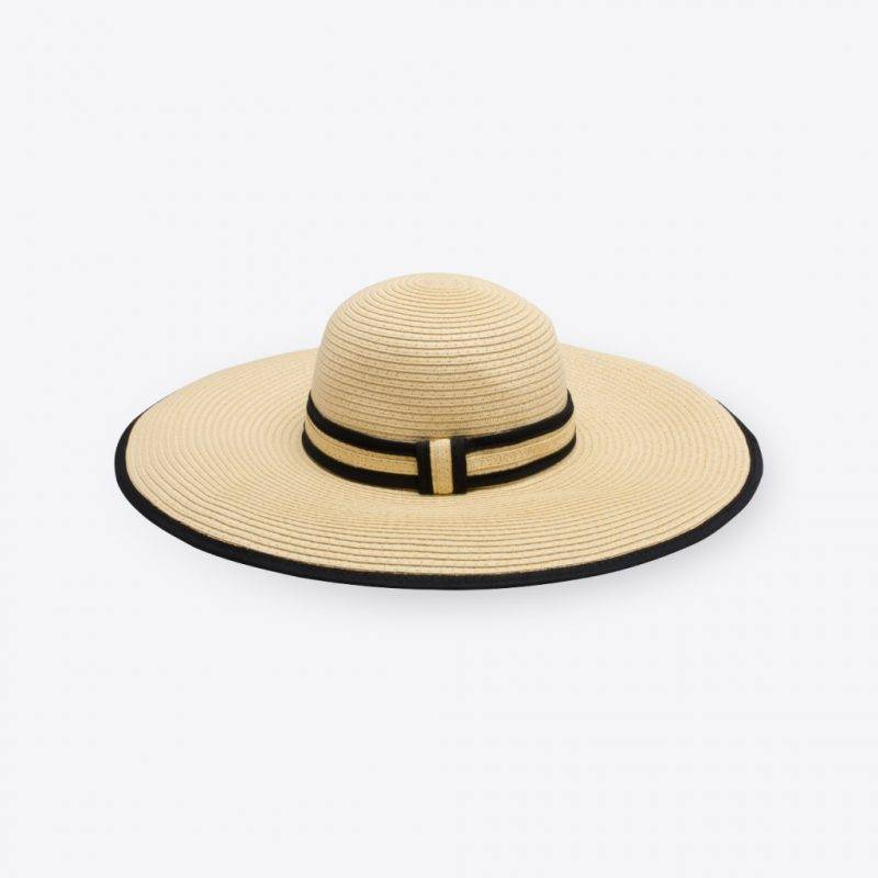 Ambrose Hat: Black and Natural Fashion Accessories Health & Beauty