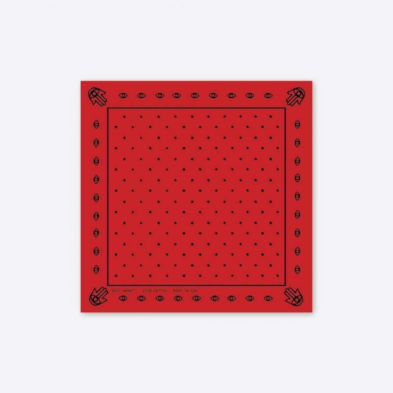 Hamsa & Dots Red Bandana Fashion Accessories Health & Beauty