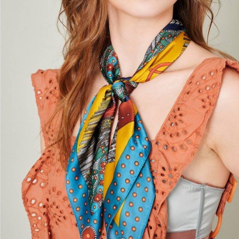 Horse Print Silky Bandana Scarf Fashion Accessories Health & Beauty