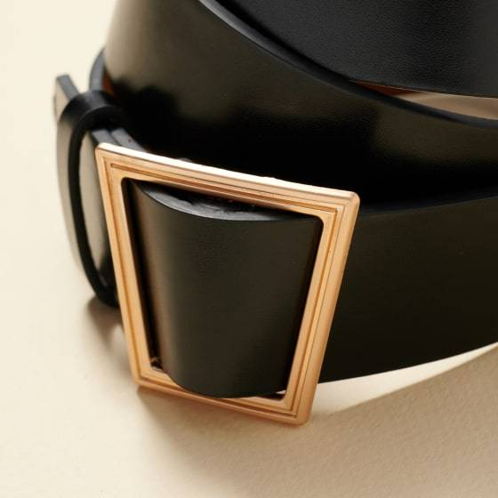 Metal Buckle Leather Belt Fashion Accessories Health & Beauty
