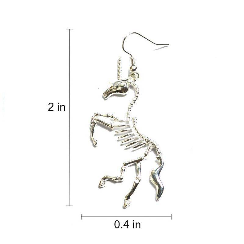 Unicorn Skeleton Earrings Fashion Accessories Health & Beauty