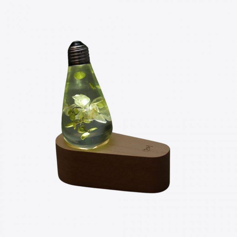 White Hydrangea LED Bulb Electronics Home Goods Home Decor Lamps