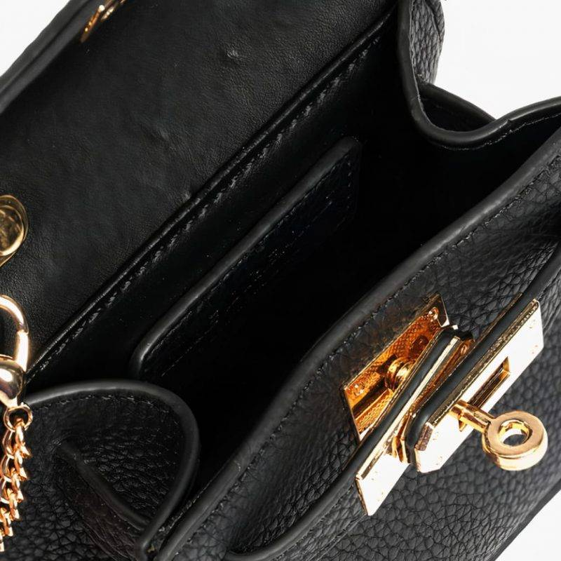 Solid Faux Leather Micro Crossbody Bag Luggage & Bags Fashion Bags