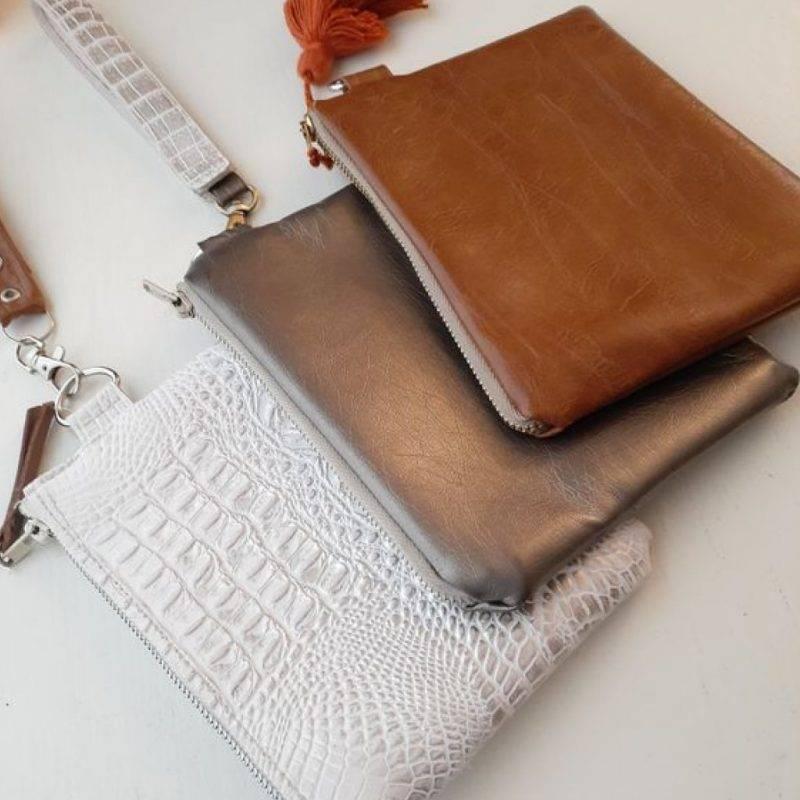 Vegan Faux Leather Wristlet Wallet Luggage & Bags Fashion Bags