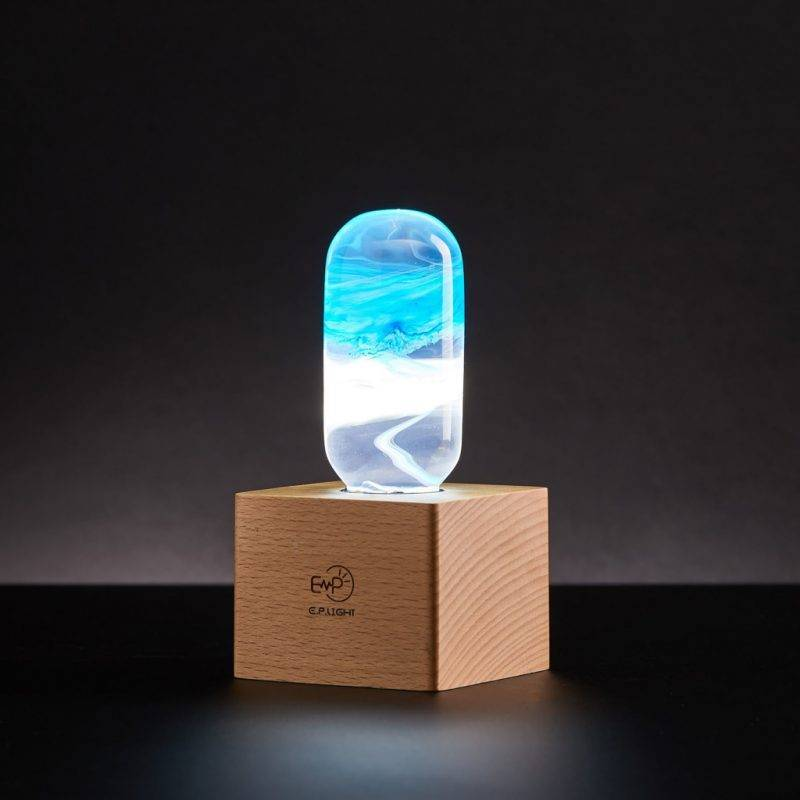 Cube Wood Light Base Home Goods Tools Lamps
