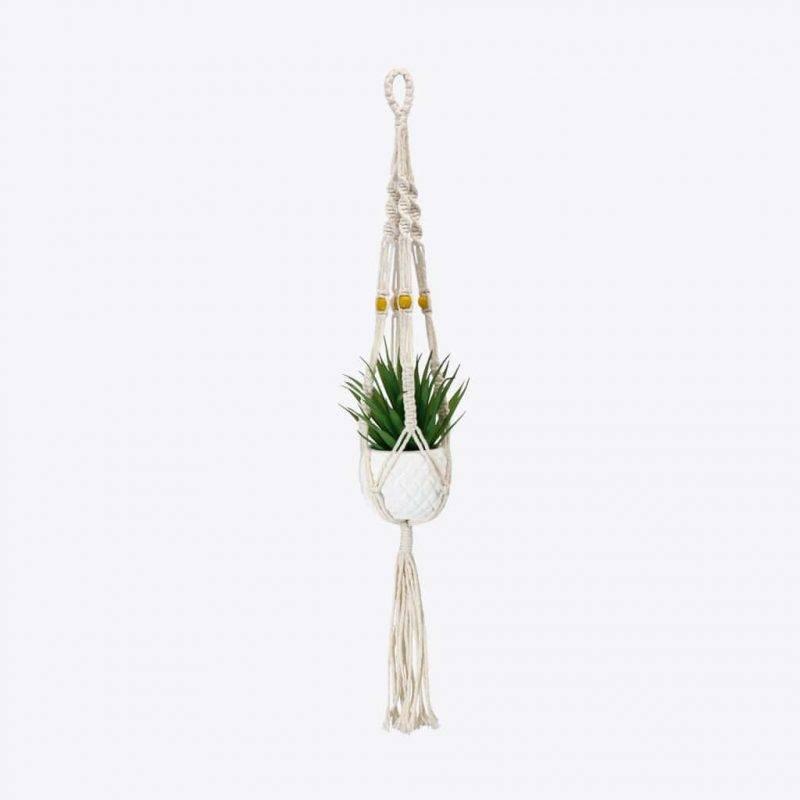 Pineapple Macrame Plant Holder Home & Garden Home Goods