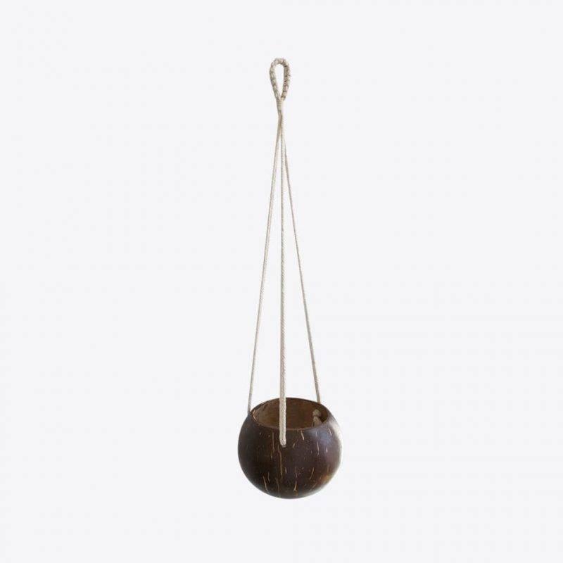 Coconut Macrame Hanging Planter Home & Garden Home Goods