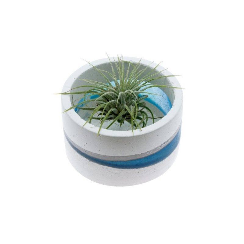 Blue Resin Planter Home & Garden Home Goods
