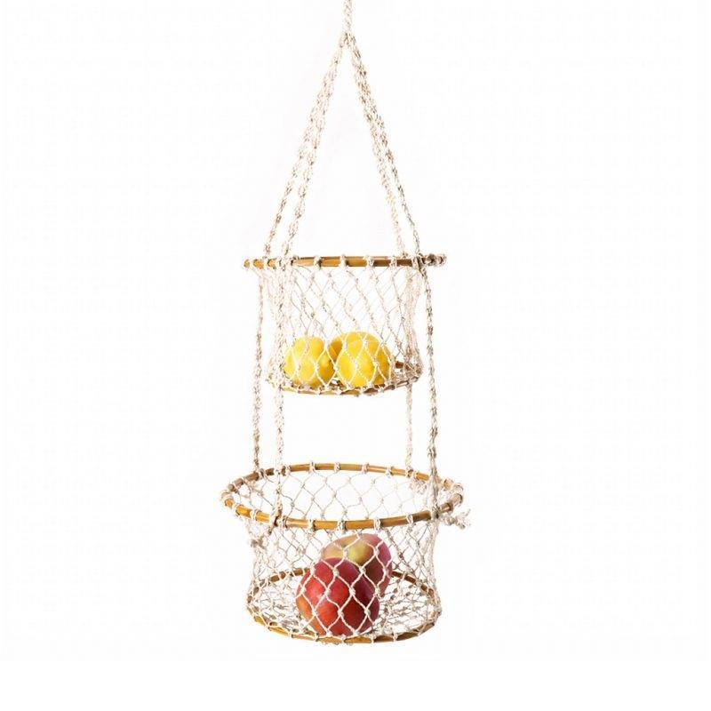 Jhuri Double Hanging Basket Home Goods Kitchen & Dining