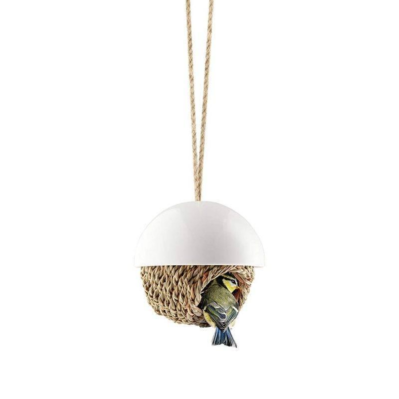 Hanging Woven Porcelain Bird Shelter Home & Garden Home Goods