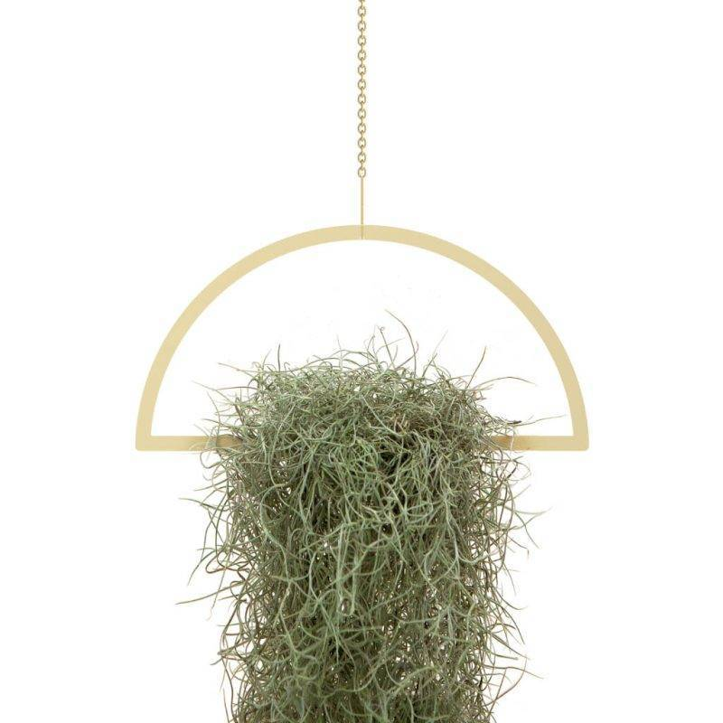 Gold Hanging Semicircle Plant Holder Home & Garden Home Goods