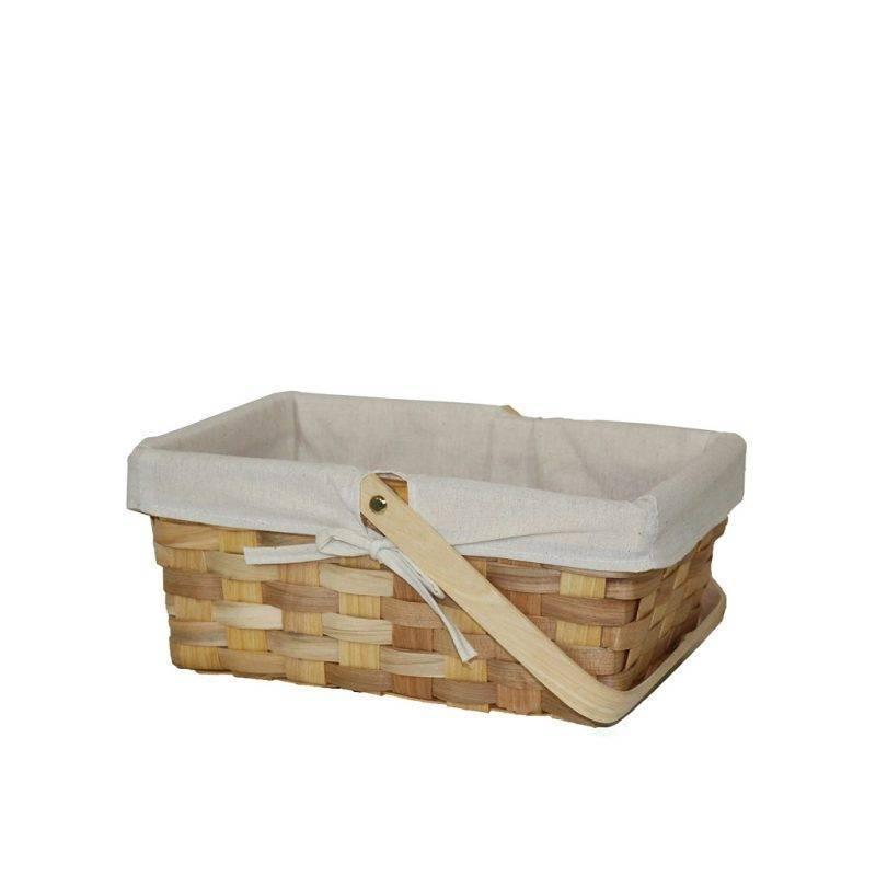 Rectangular Woodchip Picnic Basket Home Goods Kitchen & Dining