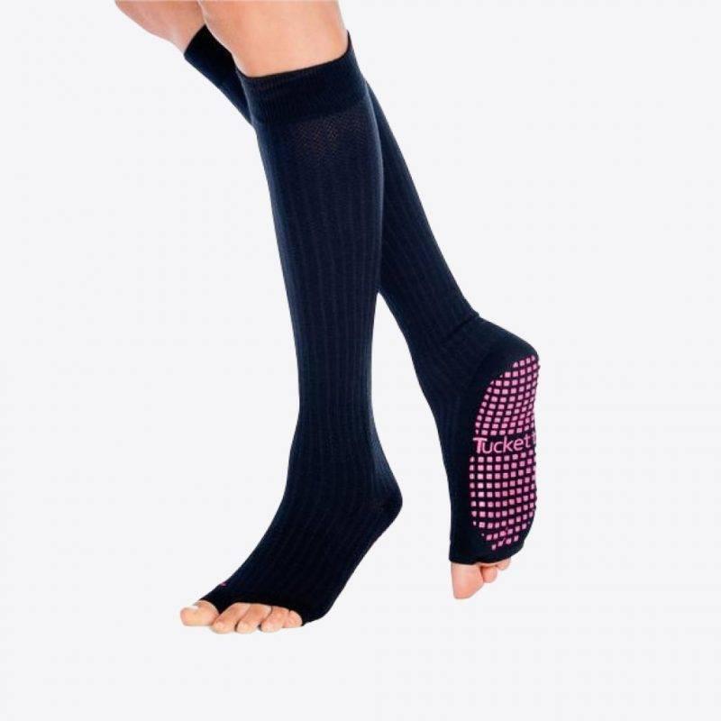 Knee High Socks In Solid Black Sports & Outdoors Leggings