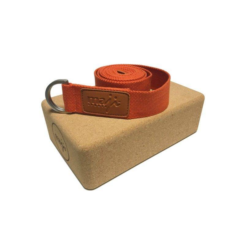 Cork Block & Strap Combo Sports & Outdoors Exercise & Fitness Tools & Accessories