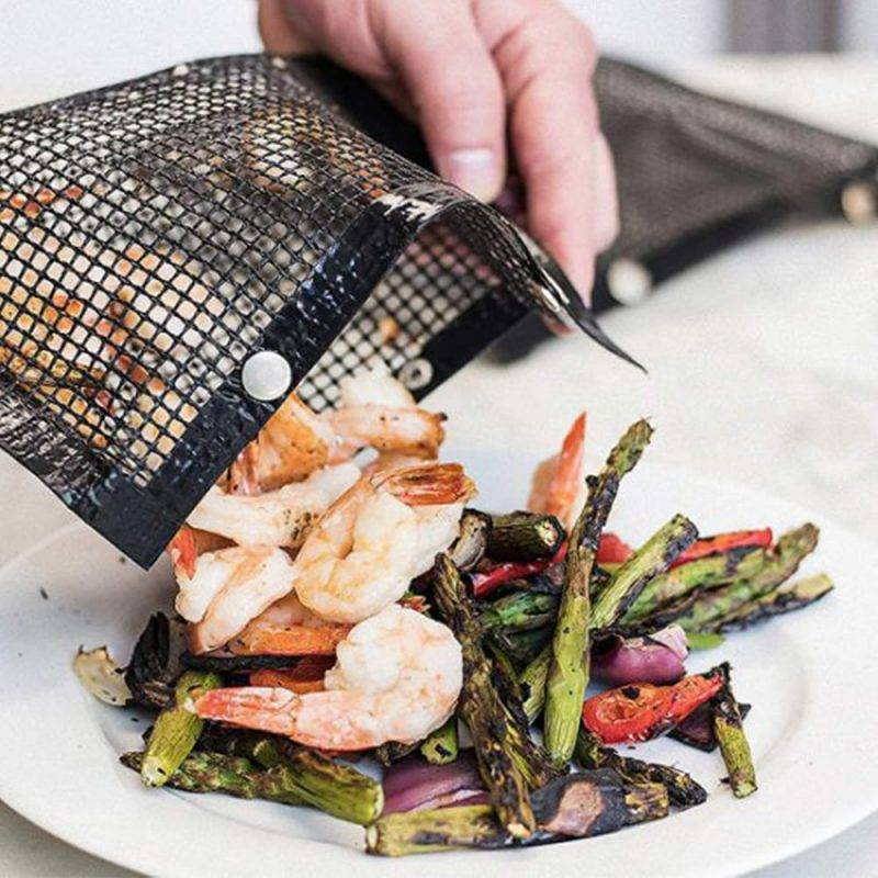Non-Stick Mesh Grill Bag Home Goods Kitchen & Dining Tools