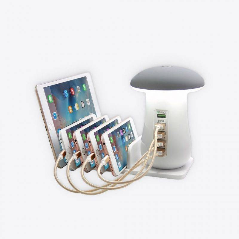 Mushroom Lamp Charger Station Electronics Cell Phones & Accessories Home Goods Tools
